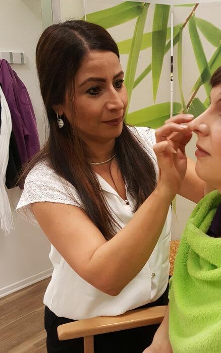 Visagistin, Make-up mit den Schülern